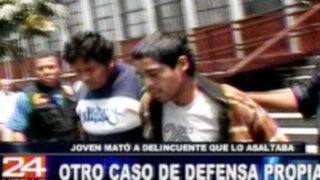 Joven que mató a delincuente que pretendía asaltarlo es detenido por la policía