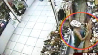 Nuevas imágenes sobre los robos en tiendas de la capital