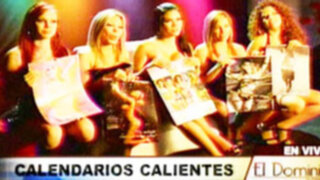 Belleza y sensualidad de la mujer peruana en calendarios de infarto