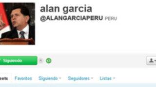 Ex mandatario Alan García terminó por unirse a la red social Twitter
