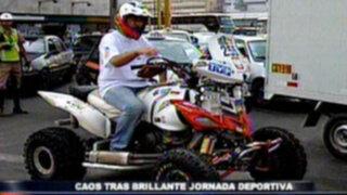 Caos vehicular en Lima tras culminación del Rally Dakar 2012