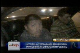 Capturan a delincuentes armados que pretendían asaltar empresa de cómputo