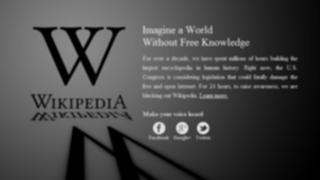 Wikipedia 'apaga' su web contra la ley SOPA