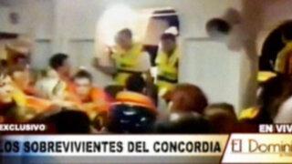 """Imágenes y testimonios exclusivos de los sobrevivientes del """"Costa Concordia"""""""