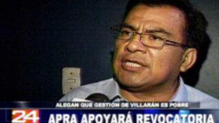 APRA apoyará revocatoria de alcaldesa Susana Villarán