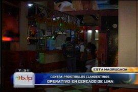 Clausuran prostíbulos clandestinos bajo fachadas de bares en Centro de Lima