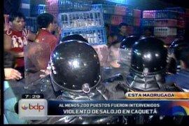 Cerca de 200 puestos fueron retirados en violento desalojo en Caquetá