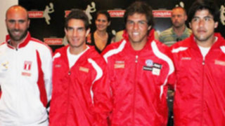 Presentan al equipo peruano de Copa Davis para jugar ante Uruguay