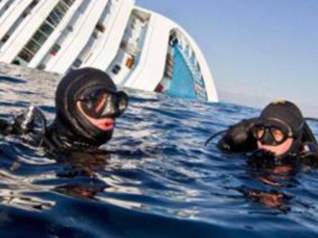 Dinamitan lugares inaccesibles del Costa Concordia en busca de cadáveres