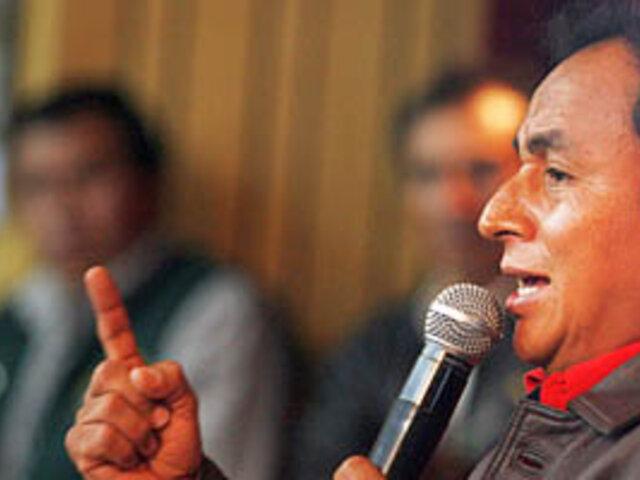 Presidente regional de Cajamarca presentó recurso que impide peritaje de Conga