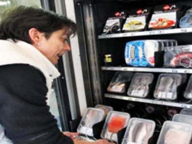 España: ahora venden pescado en máquinas dispensadoras