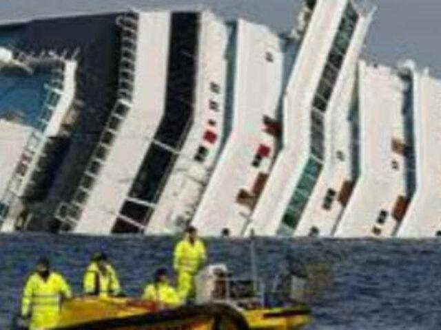 Costa Concordia pagará US$18.400 a cada pasajero afectado por naufragio