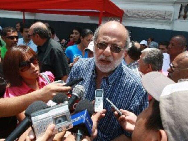 Daniel Abugattás: Rechazo de la sociedad hizo retroceder a Movadef