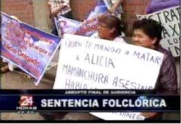 Incidencias de sentencia condenatoria a Abencia Meza por crimen de Alicia Delgado