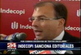 Indecopi embargará cuentas de editoriales que incurrieron en mafia de libros