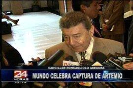 """Roncagliolo: captura de """"Artemio"""" es una buena señal para la comunidad internacional"""