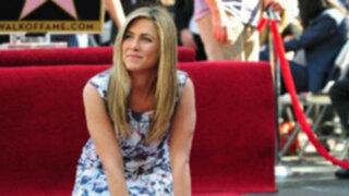 Actriz Jennifer Aniston obtuvo su estrella en Paseo de la Fama en Hollywood