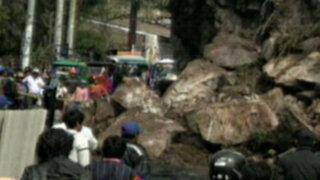 Huaraz: deslizamiento de rocas estuvo a punto de sepultar un pueblo entero