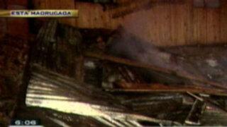 Casa es destruida por incendio en el Rímac y en Lince intervienen prostíbulo