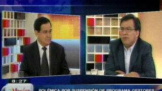 """Polémica por suspensión del programa """"Gestores para el desarrollo"""""""