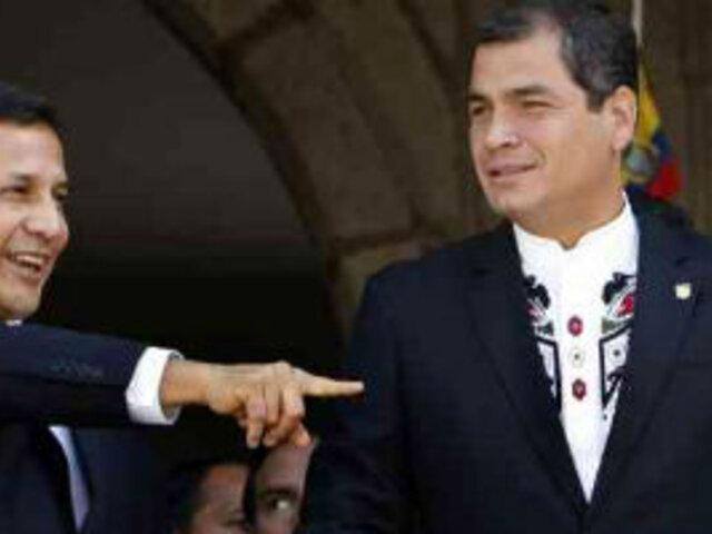 Reunión de Humala y Correa abordará contrabando y contaminación de rio Tumbes