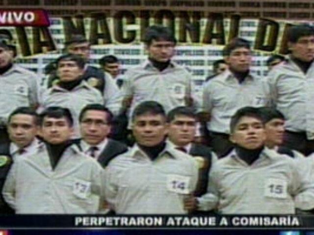 Policía presenta a 'Los sanguinarios de Bagua'
