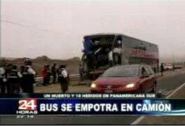 Punta Hermosa: bus impacta con camión y deja un muerto y varios heridos