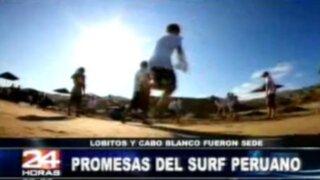Playas Lobitos y Cabo Blanco recibieron a futuros surfistas