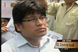 Rennán Espinoza busca prescripción de delito por usurpación agravada, afirman