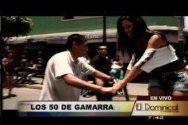 Gamarra cumple 50 años de creación y Andrea Luna le hace una visita