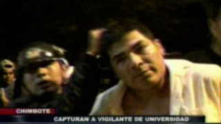 Chimbote: Policía captura a vigilante acusado de violar a escolar