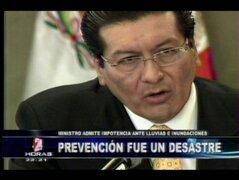 Ministro Paredes: Desastres naturales son incontrolables para el Gobierno