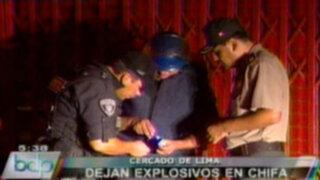 Delincuentes arrojan explosivo en chifa del Cercado de Lima