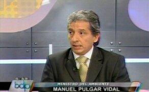 Ministro Pulgar Vidal se pronuncia sobre muertes por disturbios en Madre de Dios
