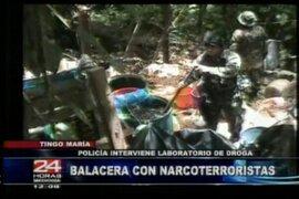 Policía interviene laboratorio de droga en Tingo María