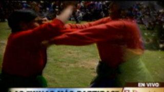 Cusco: mujeres se agarran a golpes en honor al dios Sol y a la Virgen María