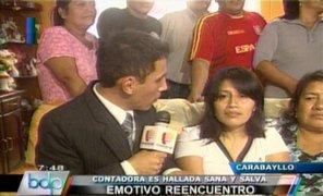 Contadora secuestrada fue hallada sana y salva en Cañete