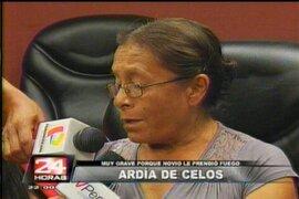 Familiares de mujer quemada piden la pena máxima para esposo homicida