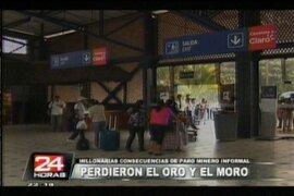 Paros antimineros dejan pérdidas de cuatro millones de soles en Puerto Maldonado