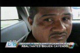 Capturan a otro delincuente involucrado en asalto al Banco de la Nación