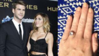 Miley Cyrus muestra anillo de diamantes y corren rumores de boda