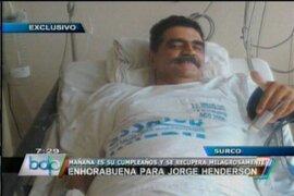 Jorge Henderson se recupera milagrosamente tras abandonar cuidados intensivos