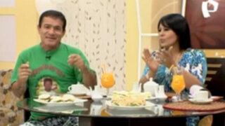 Miguelito Barraza en un desayuno divertido