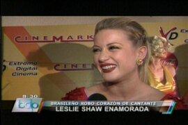 Leslie Shaw afirma: Mi novio es deportista como tanto me gustan