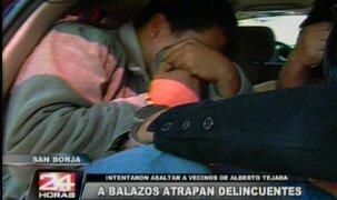 Detienen a delincuentes que intentaron saltar a vecinos de ministro Tejada en San Borja