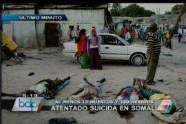 Al menos 10 muertos y 100 heridos deja atentado suicida en Somalia