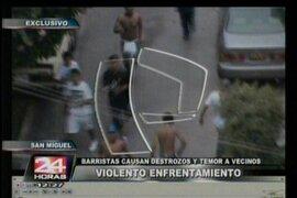 Imágenes exclusivas del violento enfrentamiento entre barristas de Universitario y Alianza