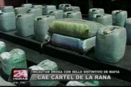 Policía incauta dos toneladas de droga y desbarata 'cartel de la rana'