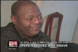 Criollo Pepe Vásquez en su hora más difícil debido a la diabetes