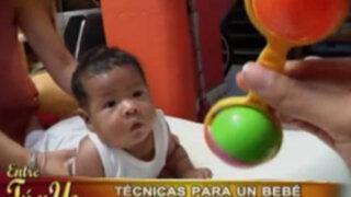Técnicas de estimulación para un bebé recién nacido